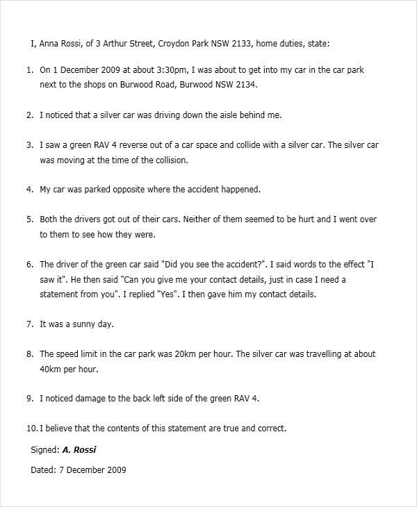 18+ Witness Letter Format - PDF,