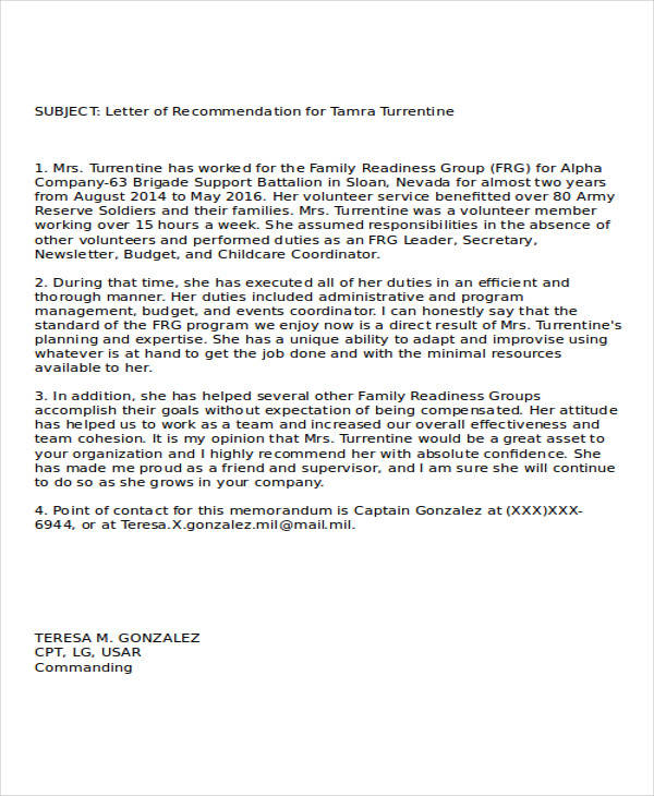 Army Letter Of Recommendation For Retention Image collections