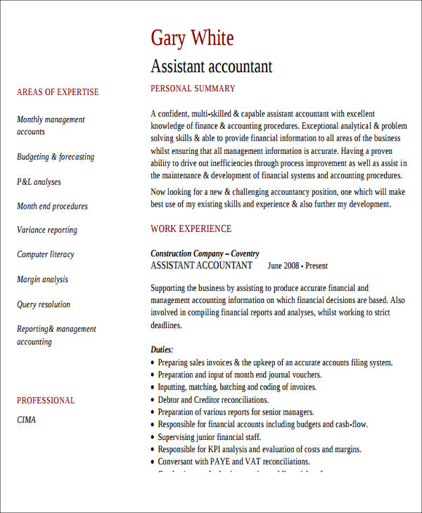 Beautiful Trainee Accountant Resume Contemporary - Best Resume ...
