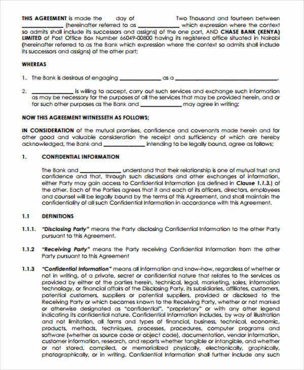 Vendor Confidentiality Agreements Canada Confidentiality - vendor confidentiality agreement
