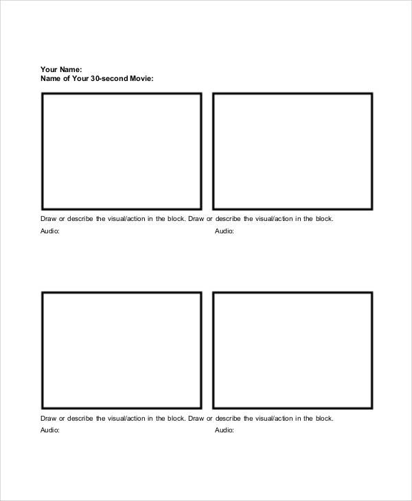 Sample Free Storyboard - 33+ Documents Download in PDF, Word, PPT - visual storyboards