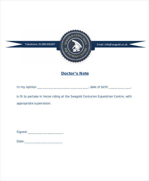 26 Doctor Notes in PDF Sample Templates - doctor note pdf