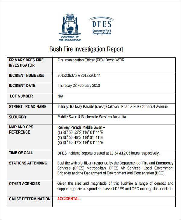 48+ Incident Report Formats - PDF, Word