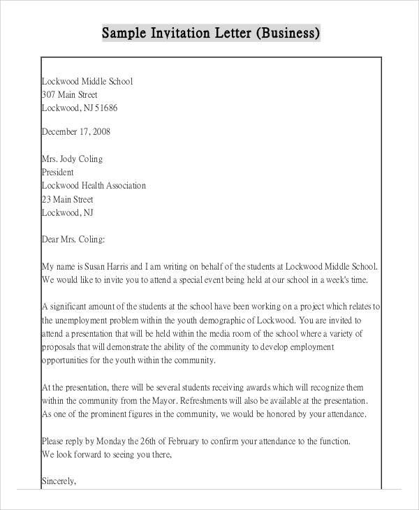 35+ Invitation Letters
