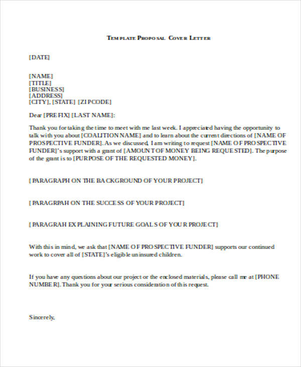 32+ Business Proposal Letter in Word