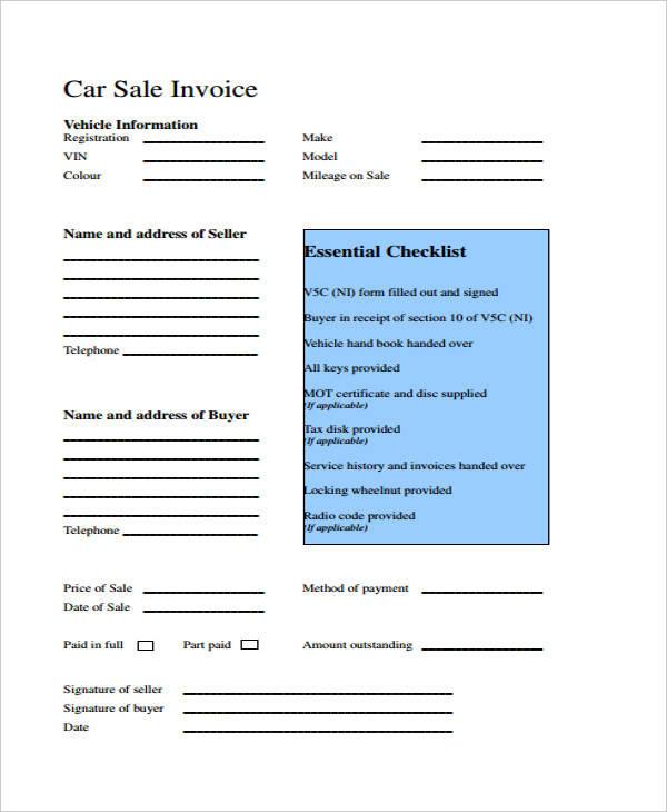 39+ Sample Printable Invoices Sample Templates - printable sales invoice
