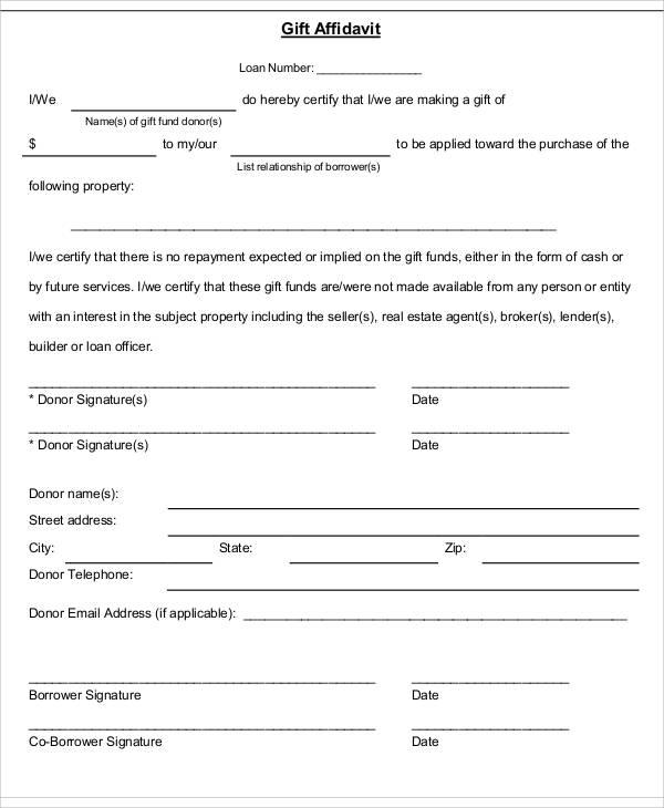 Address Affidavit Form oakandale - affidavit formats