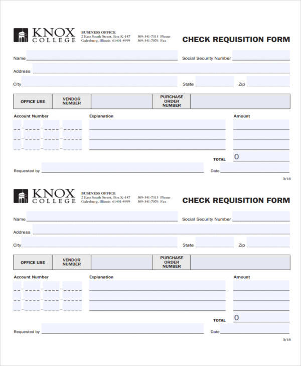 43 Free Requisition Forms