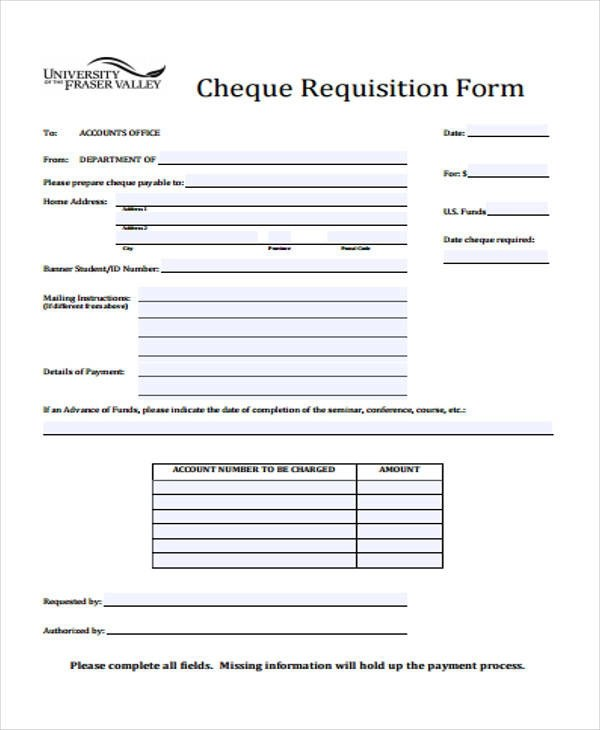 42+ Free Requisition Forms Sample Templates