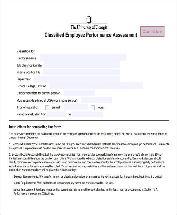 employee assessment form - Artij-plus