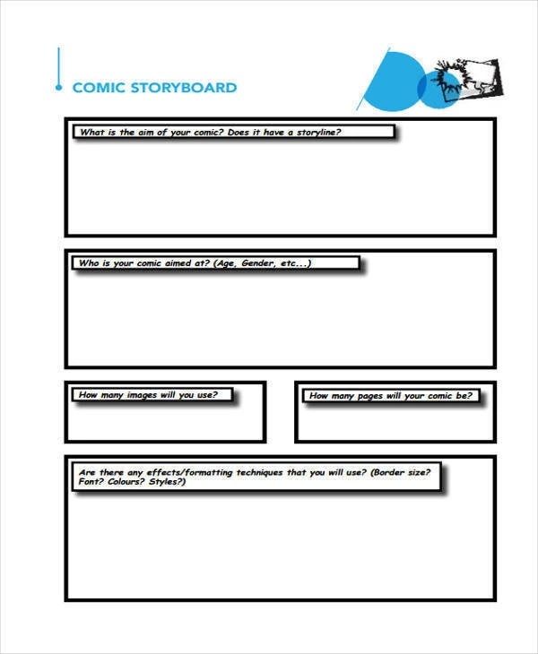 5+ Comic Storyboard - Free Sample, Example, Format Download - what is storyboard