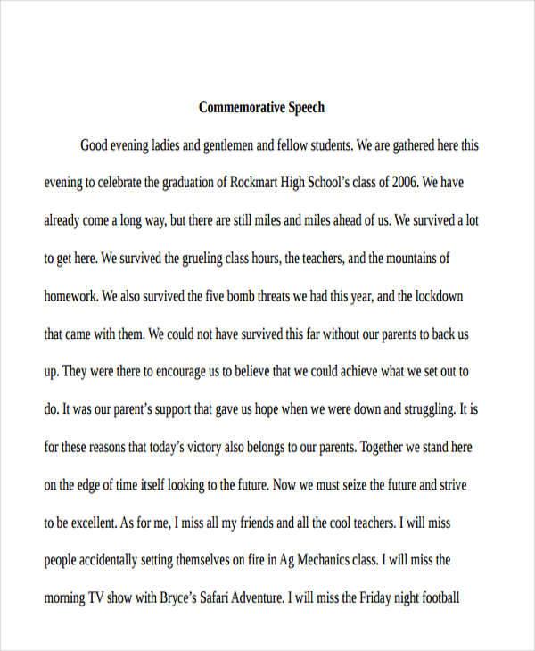 37+ Speech Formats