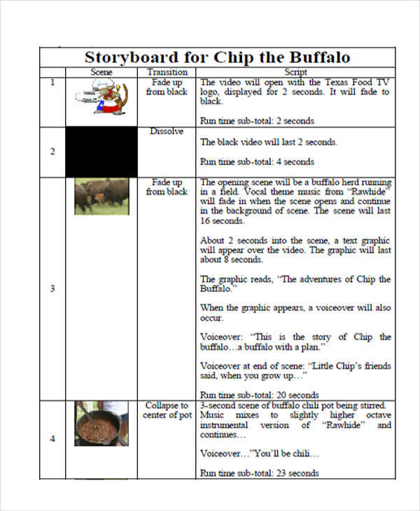 7+ Commercial Storyboard \u2013 Free Sample, Example, Format Download - commercial storyboards