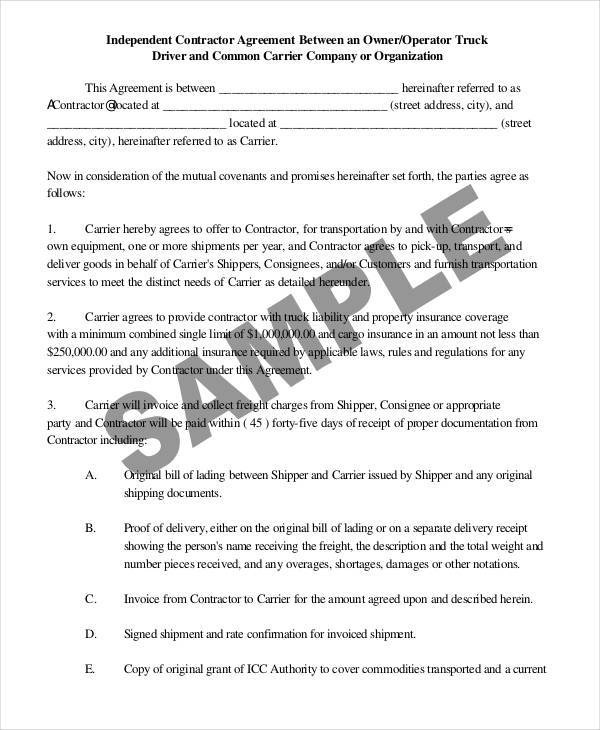 43+ Contract Agreement Formats Sample Templates