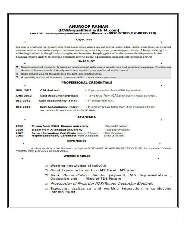 Standard Resume Format Pdf | Resume Format And Resume Maker