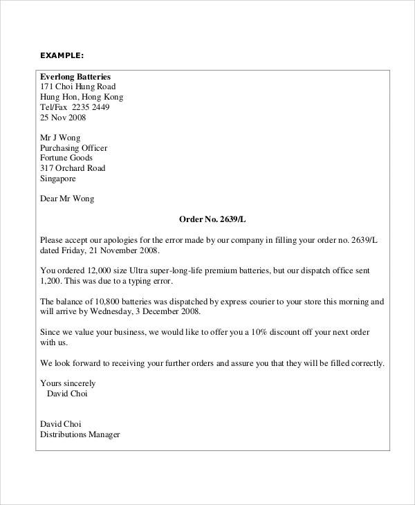 32+ Apology Letter Examples Sample Templates