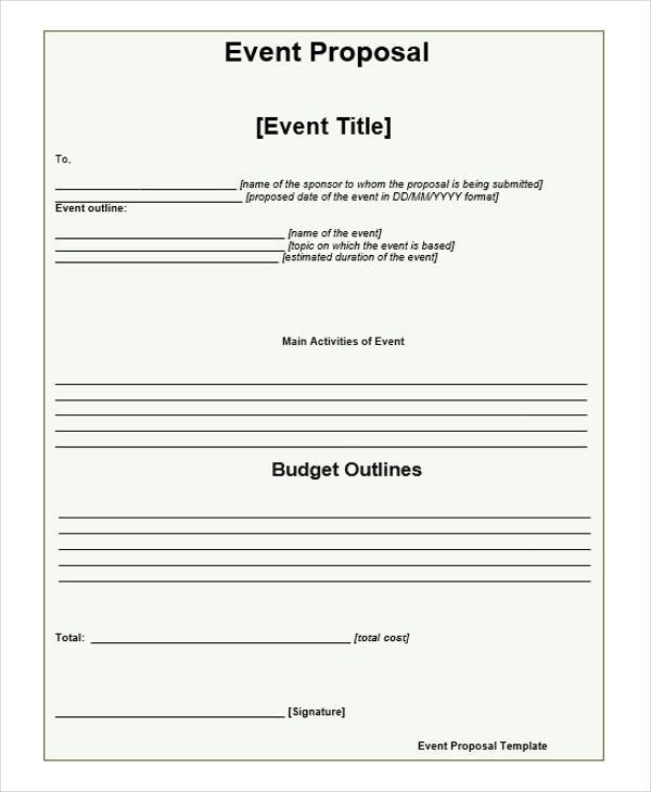 52+ Event Proposal Samples Sample Templates - Event Proposal Format