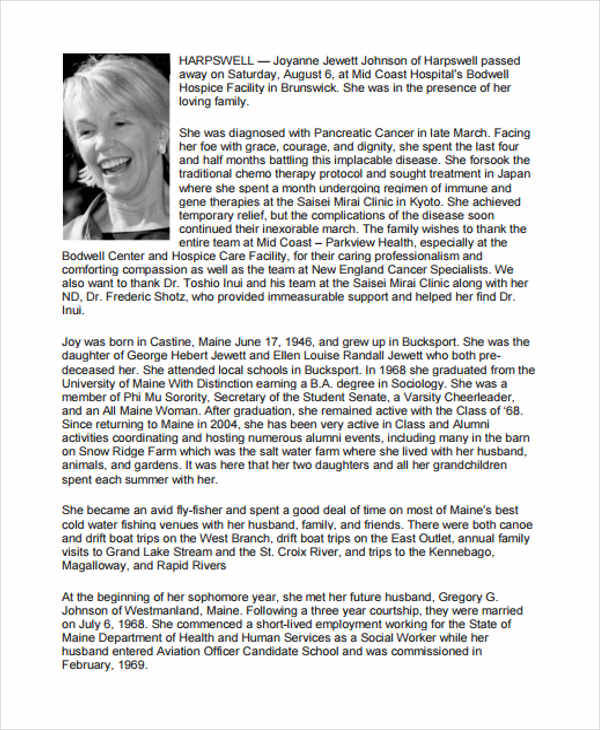 Printable Obituary  NodeCvresumePaasproviderCom