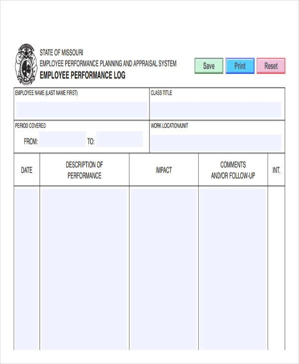 Employee Performance Report Template For Word Document Hub 13 HR