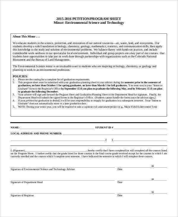 School Petition Free Sample Example Format Download cvfreepro