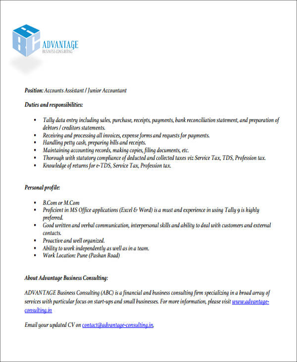 26+ Accountant Resume Formats Sample Templates