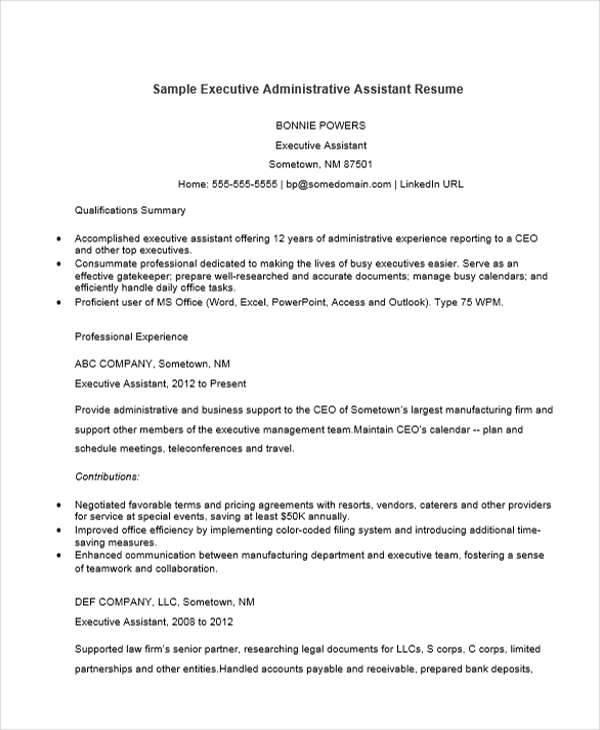 Executive Assistant Resume Sample Monstercom - an essay concerning