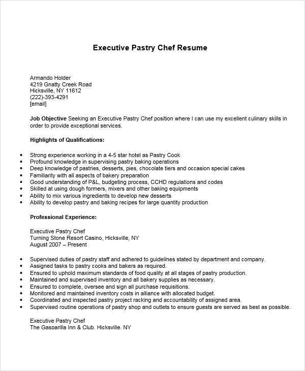 Club Chef Sample Resume  NodeCvresumePaasproviderCom