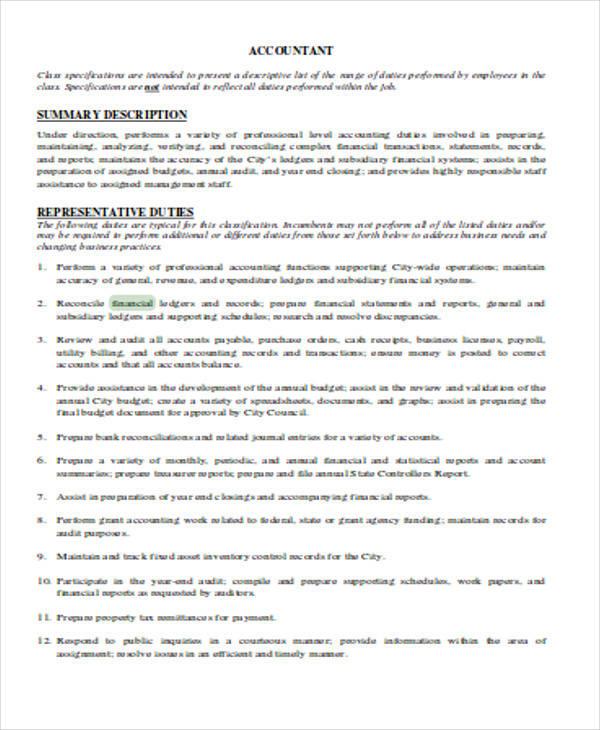 32+ Accountant Resume Samples Sample Templates - Financial Accountant Resumes