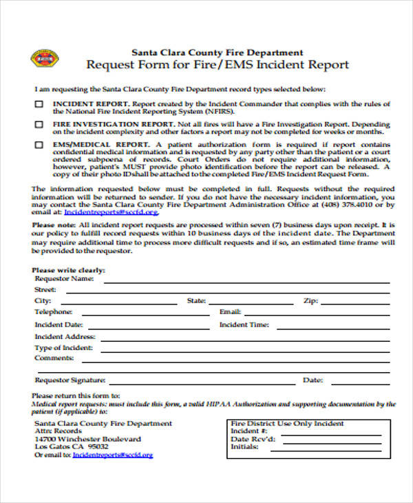 ... Business Incident Report   Pacq   Medical Incident Report Form ...