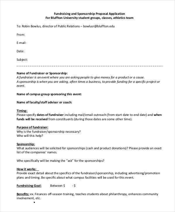 25 Event Proposal Templates - athlete sponsorship proposal template