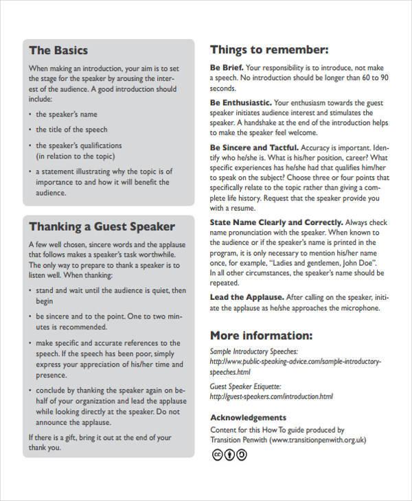 4+ Presentation Speech Examples, Samplesbusiness proposal speech
