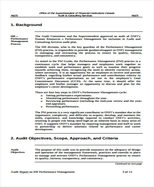 hr management report template - Koranayodhya