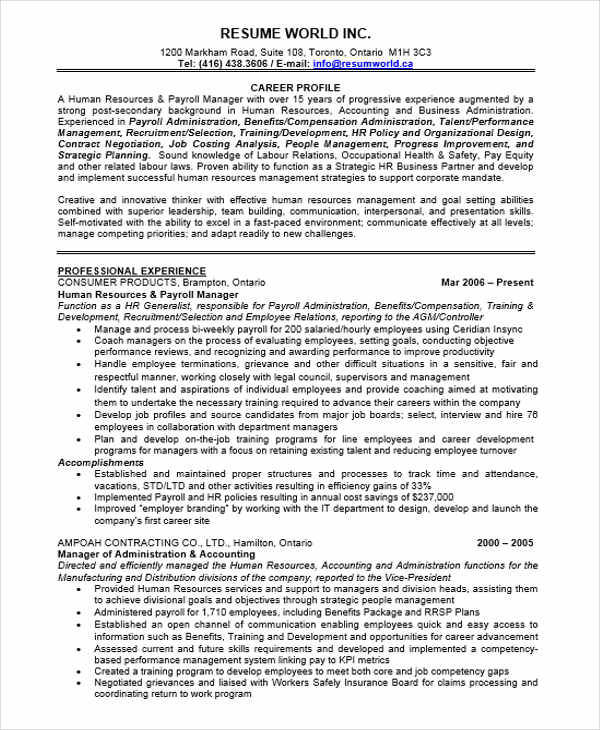 executive admin resume templates