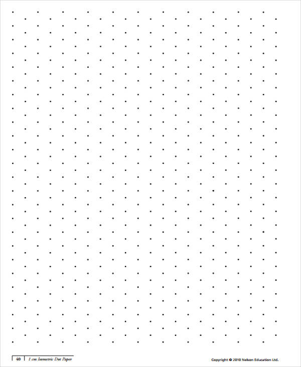 27+ Free Isometric Papers Sample Templates - printable dot grid paper