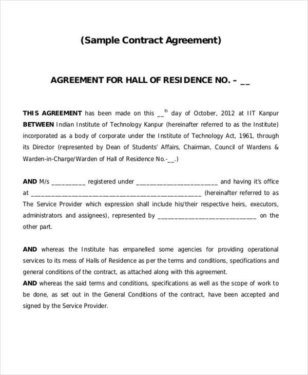 43+ Contract Agreement Formats Sample Templates - Legal Agreement Contract