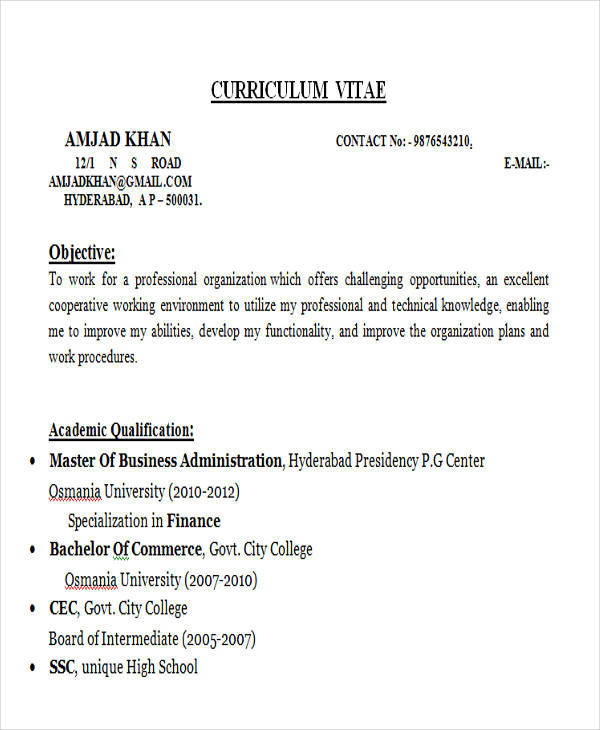 42+ Professional Fresher Resumes Sample Templates - professional fresher resume