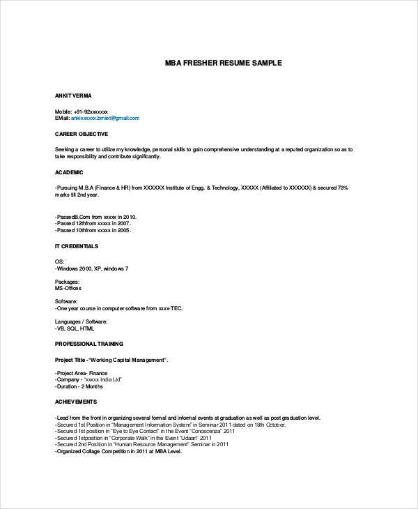 What Is The Best File Format For A Resume. Email Resume Format