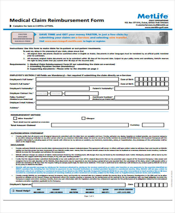 Medical Claim Form Best Certificate Templates Images On Certificate