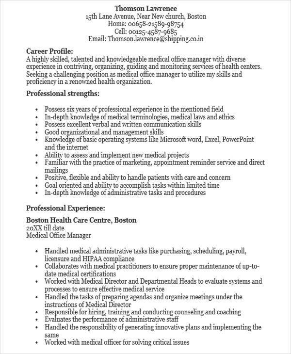 48+ Manager Resume Templates - office manager resume skills