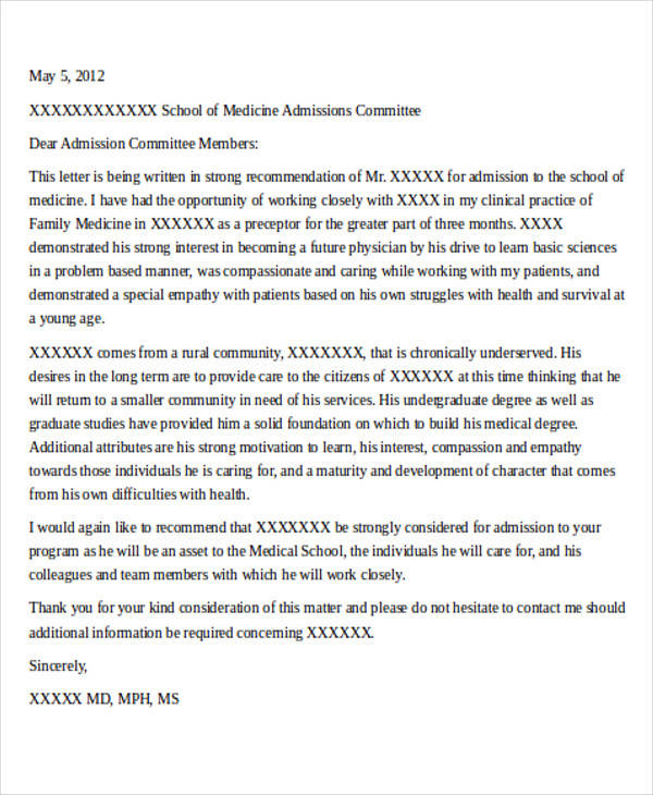physician letter of recommendation hitecauto - medical school recommendation letter
