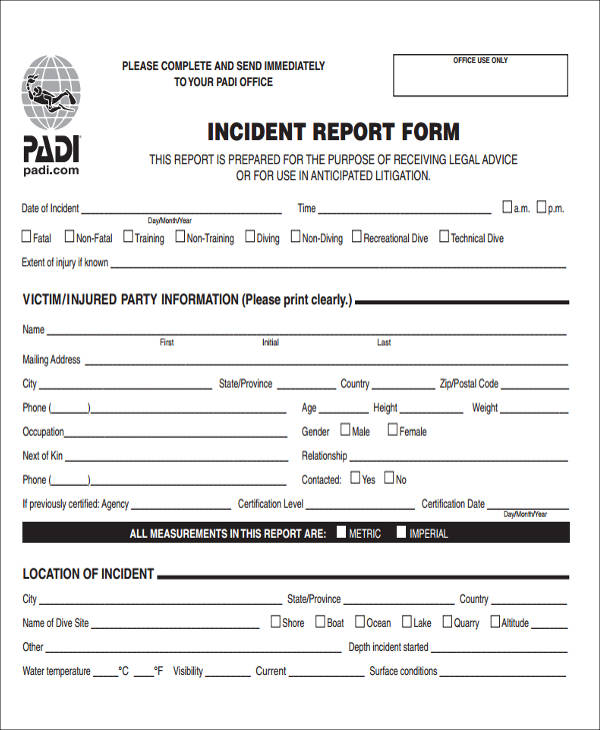 47+ Incident Report Samples Sample Templates - Sample Incident Report