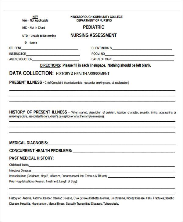 38+ Assessment Forms in PDF Sample Templates - nursing assessment forms