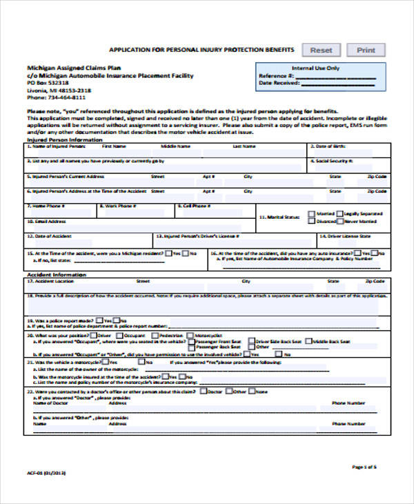 49+ Claim Forms Examples - injured spouse form