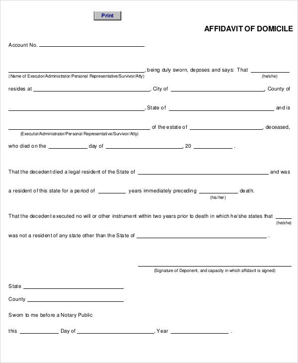 28+ Sample Affidavit Forms in PDF