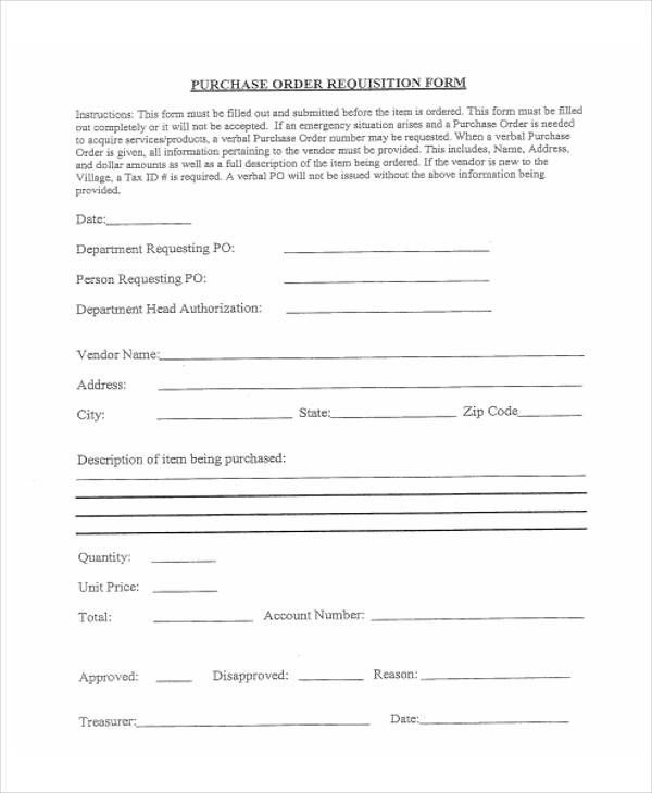 Free Requisition Form Office Depot Brand Purchase Requisition - sample requisition form