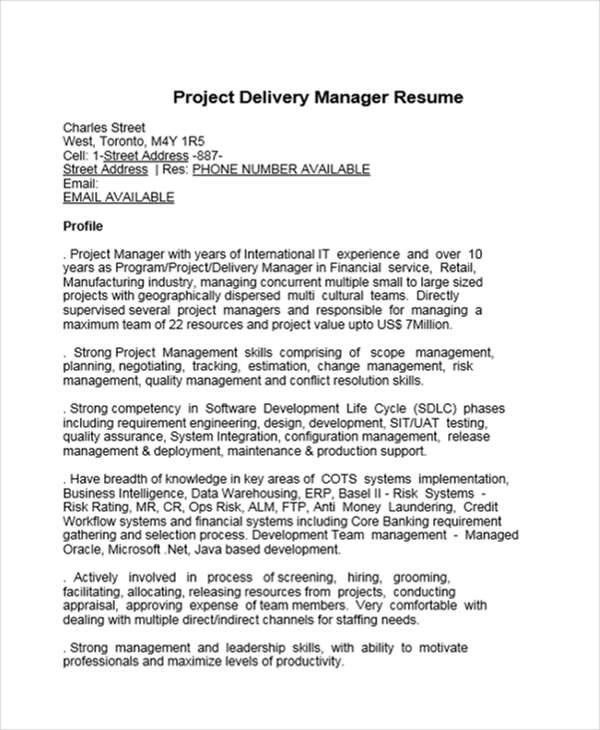 41+ Manager Resumes in Word