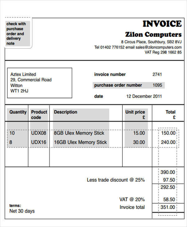 40+ Invoice Templates Sample Templates
