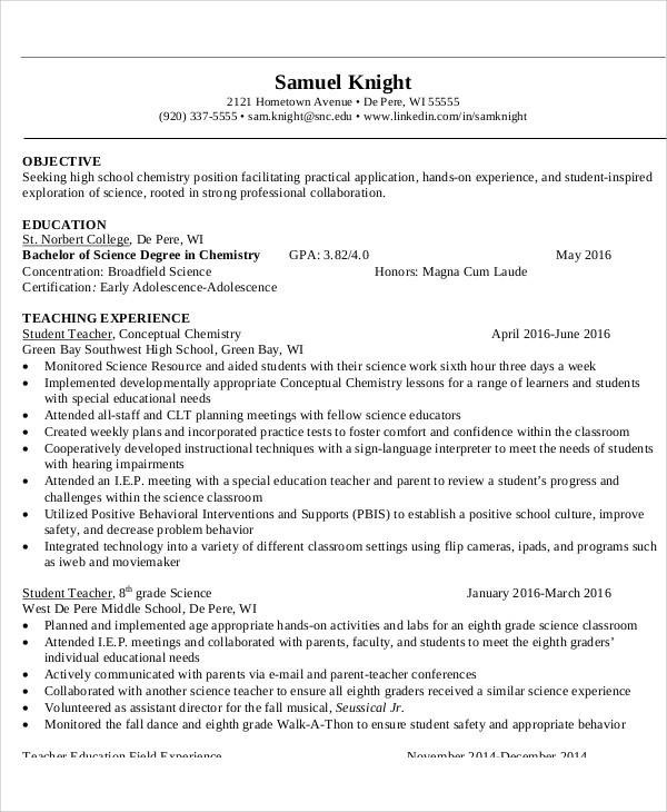 objective statement for teacher resume radiovkm
