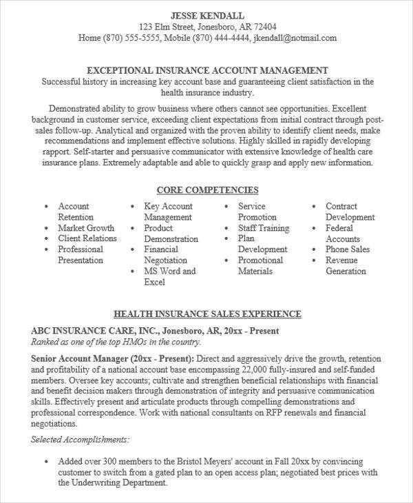 Account Manager Resume 17196 account manager resume 8 sle
