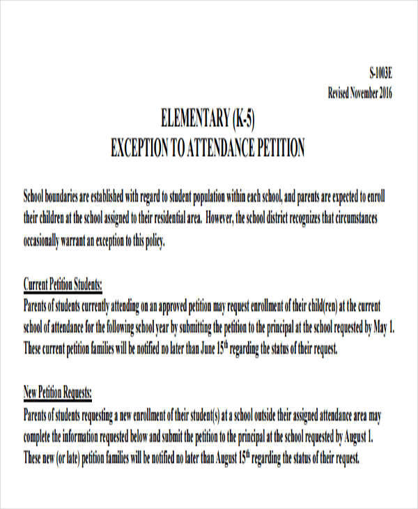 8+ School Petition \u2013 Free Samples, Examples, Formats Download